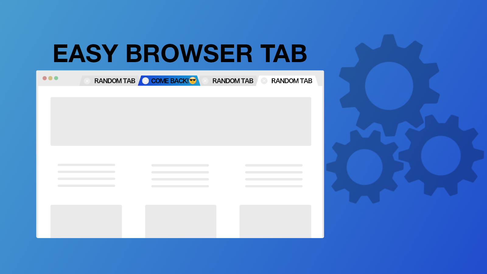 Easy Browser Tabs User recovery